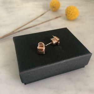 Michael Kors Rose Gold LOCK stud earrings